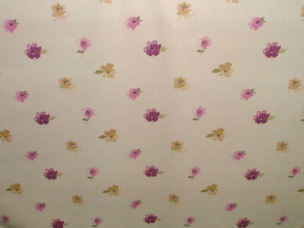 Ashley Wilde Janella Plum Cotton Curtain Soft Furnishing